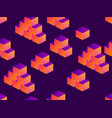 cubes isometric seamless pattern with gradient on vector image vector image