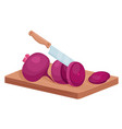 cut beet slices isometric cooking process with vector image vector image