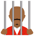 danger bandit in jail avatar character vector image