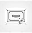 diploma icon sign symbol vector image vector image