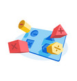 educational puzzle game vector image