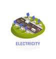 electricity concept vector image vector image