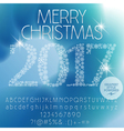 Fantastic Merry Christmas 2017 greeting card vector image vector image