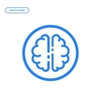 flat line brain icon vector image vector image