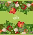 fresh salad vegetables organic delicious food vector image vector image