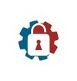 gear business logo design template icon vector image vector image