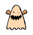 ghost comic character halloween sticker for vector image