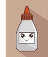glue bottle funny character isolated icon design vector image vector image