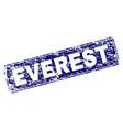 grunge everest framed rounded rectangle stamp vector image