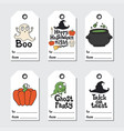 halloween gift tags printable tags collection vector image