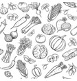 hand drawn vegetables seamless pattern vector image vector image