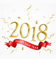 happy new year background with gold confetti vector image vector image