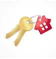 House keys with Red Key chain vector image vector image