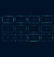 hud frame futuristic game target borders sci-fi vector image vector image