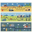 Industrial factories banners vector image