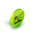 isometric line smart home with wi-fi icon isolated vector image vector image