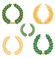 laurel wreaths set silhouette symbol collection vector image