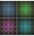Luxury golden seamless patterns set vector image vector image