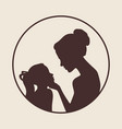 mother and daughter silhouettes best mom ever vector image vector image