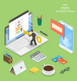 multi factor authentication flat isometric vector image vector image