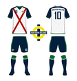 Northern Ireland soccer kit football jersey vector image vector image