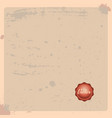 old paper background with stamp antique paper vector image