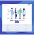 online doctor set 3 vector image