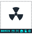 radiation icon flat vector image