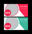 red banner design green abstract poster set we vector image vector image