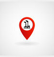 red location icon for factory eps file vector image