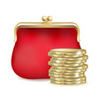 Red Purse vector image vector image