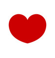 red shape love heart icon isolated on white vector image vector image
