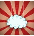 Retro Cloud vector image vector image