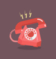 retro dial telephone are ringing vector image vector image