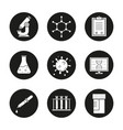 science laboratory icons set vector image