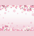 seamless background with cherry blossoms vector image vector image