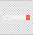search bar field interface element with search vector image vector image