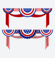 set american flag decoration clip art vector image vector image