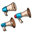 set megaphone design element for poster logo vector image