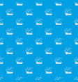 ship of columbus pattern seamless blue vector image vector image