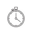 sketch silhouette stopwatch with timer vector image vector image