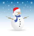 snowman color vector image vector image