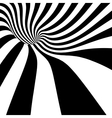 striped spiral abstract tunnel vector image vector image