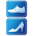 toilet sign with shoe vector image vector image