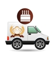 transport of birthday cake vector image vector image
