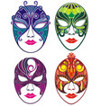 venetian masks vector image vector image