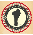 Vintage label-sticker cards of Benin vector image