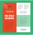 water melon business company poster template with vector image