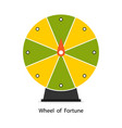 wheel of fortune in flat style vector image