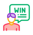 winner man icon outline vector image vector image